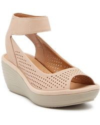 Clarks - Reedly Salene Wedge Sandal - Wide Width Available - Lyst