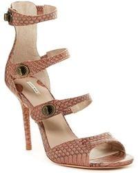 Leon Max Saffy Genuine Snakeskin Sandal
