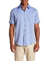 James Campbell - Barnes Short Sleeve Stripe Regular Fit Shirt - Lyst