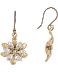Lucky Brand - Mini Layered Flower Drop Earrings - Lyst