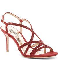 Badgley Mischka - Wild Embellished Dress Sandal - Lyst