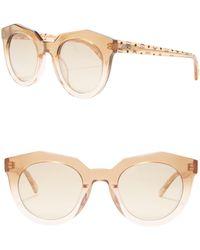 1b2bb9714e Lyst - MCM 603S Xl Cat Eye Sunglasses in Metallic