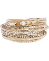 Saachi - Autumn 8mm Freshwater Pearl Beaded & Crystal Accented Multi Strand Bracelet - Lyst