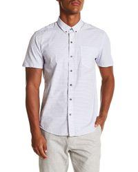 W.r.k. - Mini Stripe Reworked Short Sleeve Shirt - Lyst