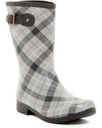 bae42380e7c6 Chooka - Eastlake Mid Waterproof Pebble Plaid Rain Boot - Lyst