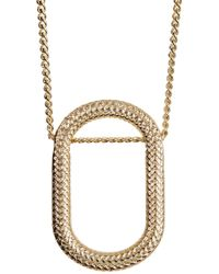 Cole Haan - Oval Pendant Necklace - Lyst