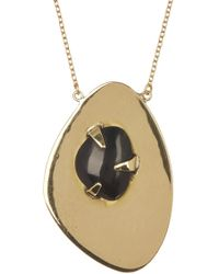 Soko - Astra Prong Set Black Horn Double Pendant Necklace - Lyst