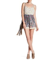 Patrons Of Peace - Ruffled Printed Romper - Lyst