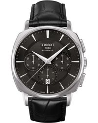 Tissot - Men's T-lord Automatic Chronograph Valjoux Croc Embossed Leather Strap Watch, 42.2mm - Lyst