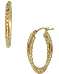 Bony Levy - 14k Yellow Gold Double Oval 22mm Hoop Earrings - Lyst