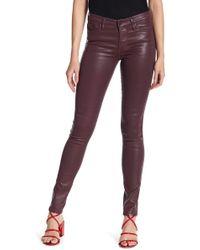 DIESEL - Skinzee Faux Leather Trousers - Lyst