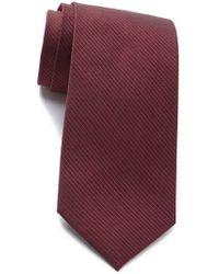 Calvin Klein - Red Hot Silk Blend Pinstripe Tie - Lyst