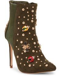 Elegant Footwear - Taika Studded Pointed Bootie - Lyst