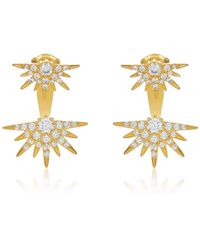 Melinda Maria - Barrie Cz Spkie Jacket Earrings - Lyst