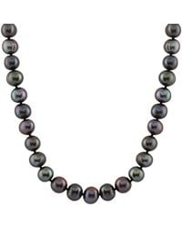 Splendid - 14k White Gold 10-11mm Cultured Freshwater Dyed Black Pearl Necklace - Lyst