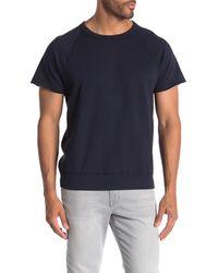 Save Khaki - Supima Fleece Short Sleeve Sweatshirt - Lyst