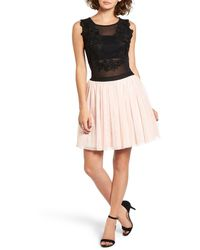 Way-in - Lace Applique Two-piece Dress - Lyst