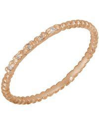 Bony Levy - 18k Rose Gold Diamond Beaded Stack Ring - 0.02 Ctw - Lyst