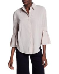 Moon River - Bell Sleeve Button Blouse - Lyst