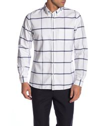 Brooks Brothers - Windowpane Regent Fit Oxford Shirt - Lyst
