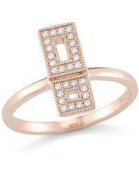 Dana Rebecca - 14k Rose Gold Allison Joy Diamond Ring - Size 6 - 0.13 Ctw - Lyst