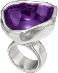 Uno De 50 - Chin Chin Purple Bowl Ring - Lyst