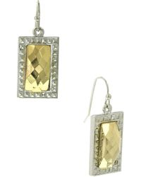 1928 - Stone Square Drop Earrings - Lyst