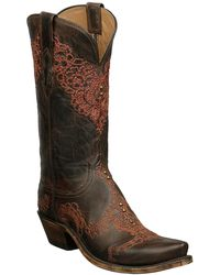 Lucchese - Genuine Goatskin Leather Western Boot - Lyst