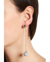 Rebecca Minkoff - High Shine Pompom Drop Earrings - Lyst