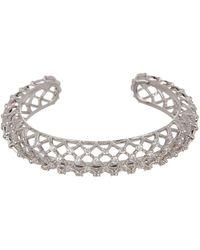 Nadri - Rio Cz Lattice Cuff Bracelet - Lyst
