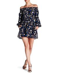 Amour Vert - River Off-shoulder Silk Dress - Lyst