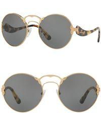 Prada - Round Catwalk 57mm Sunglasses - Lyst