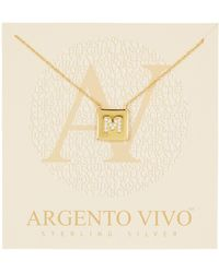 """Argento Vivo - 18k Gold Plated Sterling Silver """"g"""" Pendant Necklace - Lyst"""