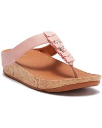 Fitflop - Ruffle Toe-thong Sandals - Lyst