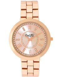 Nanette Nanette Lepore - Women's Wind-up Crystal Bracelet Watch, 38mm - Lyst