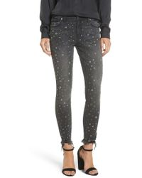 Tinsel - Rock Star Studded Skinny Jeans - Lyst