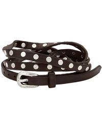 Uno De 50 - Y Mas Alla Studded Leather Wrap Bracelet - Lyst