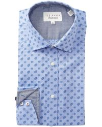 Ted Baker - Mini Paisley Print Trim Fit Dress Shirt - Lyst
