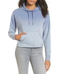 RVCA - Smudged Crop Funnel Neck Sweatshirt - Lyst
