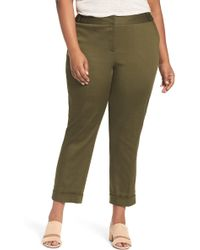 Sejour - Stretch Twill Ankle Trousers (plus Size) - Lyst