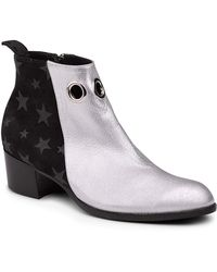 Modern Vice - Star & Grommet Leather Bootie - Lyst