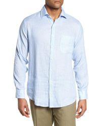Peter Millar - Whirlwind Regular Fit Linen Sport Shirt - Lyst