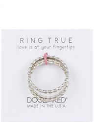 Dogeared - Ring True Stack Ring - Set Of 3 - Size 5 - Lyst