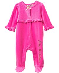 Juicy Couture - Quilted Heart Velour Footie (baby Girls) - Lyst