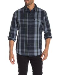 Tailor Vintage - Heavyweight Plaid Reversible Long Sleeve Casual Fit Shirt - Lyst