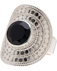 Anna Beck - Sterling Silver Black Onyx Large Cocktail Ring - Lyst