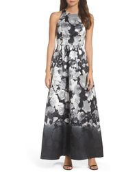 Alfred Sung - Floral Sateen Gown - Lyst