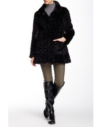 Eliza J - Spread Collar Faux Fur Jacket - Lyst