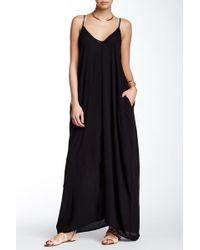 Love Stitch - V-neck Sleeveless Gauze Maxi Dress - Lyst