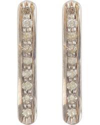 Adornia - Champagne Diamond Bar Stud Earrings - 0.30 Ctw - Lyst
